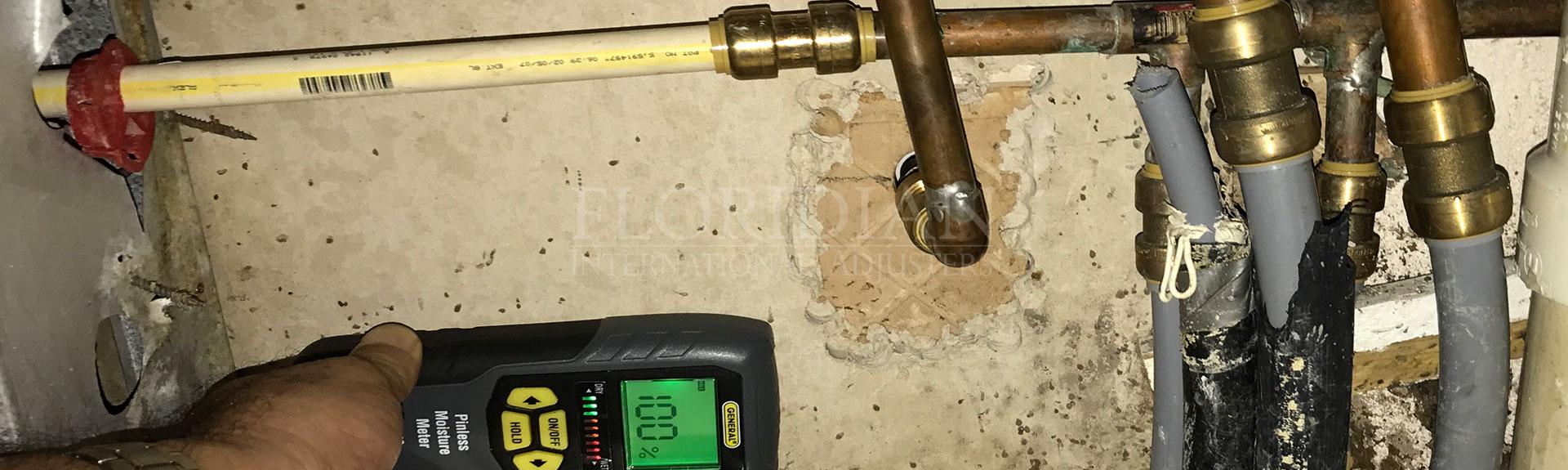 Plumbing leak claim