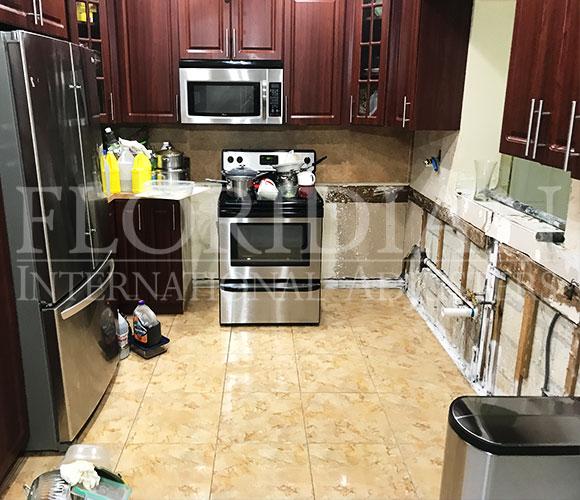 Kitchen Leak Damage